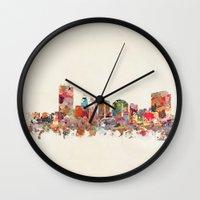ohio Wall Clocks featuring toledo ohio by bri.b
