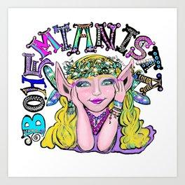Boho Colorful Fairy Art Print