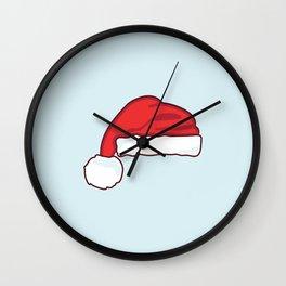 christmas santa claus hat Wall Clock