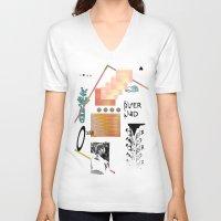 tits V-neck T-shirts featuring I love tits (overandover) by Marta Veludo