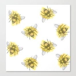 i'd like to be a busy little bee Canvas Print