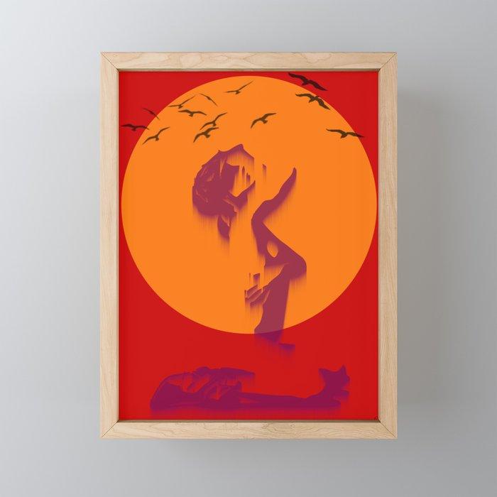 Loser sky Framed Mini Art Print