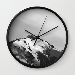 Shining Snowcap Wall Clock