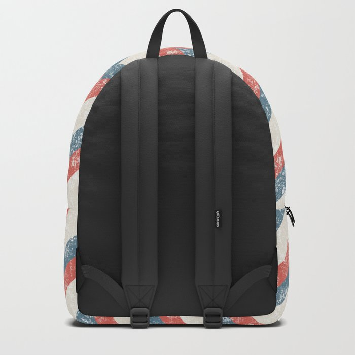 Maritime Navy Chevron ZigZag in Red White Blue Backpack
