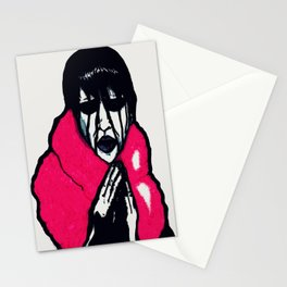 """""""Fluffy Manson"""" in Color Stationery Cards"""