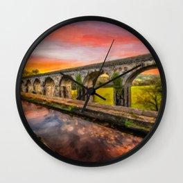 Chirk Aqueduct Sunset Wall Clock