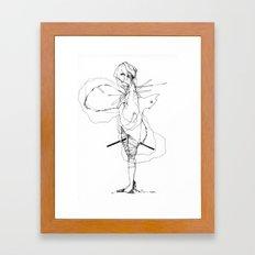 Pedigree - Black and White Drawing  Framed Art Print