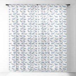 White Whaling Sheer Curtain