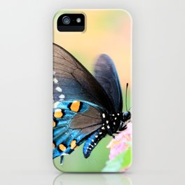 Spicebush Swallowtail Butterfly on Lantana iPhone Case