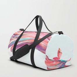 Waved Ballet Dancer Pink Art Duffle Bag