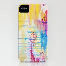 BRIGHTER DAYS - Beautiful Soft Pastel Colours Painting Rain Cloud Sunny Sky Abstract Nature Acrylic Slim Case iPhone (4, 4s)