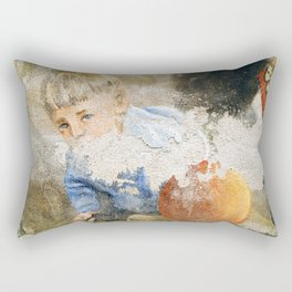 Murales in Flussio on the Isle of Sardinia Rectangular Pillow