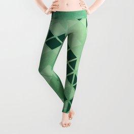 Forest Green -  Geometric Triangle Pattern Leggings