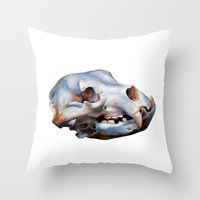 animal skull Throw Pillows featuring Animal Skull by teethbone (Tyler Snell)