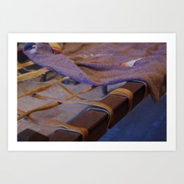 Mission San Juan Capistrano antique bed Art Print