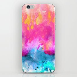 Pink and Blue Abstract iPhone Skin