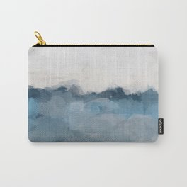 Sky Denim Indigo Navy Blue Ocean Sea Horizon, Abstract Nature Ocean Sunny Clear Morning Water, Paint Carry-All Pouch