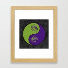 yin yang dragons Framed Art Print