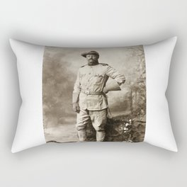 Col. Theodore Roosevelt, in Rough Rider Uniform Rectangular Pillow