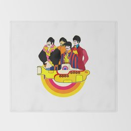 Yellow Submarine - Pop Art Throw Blanket