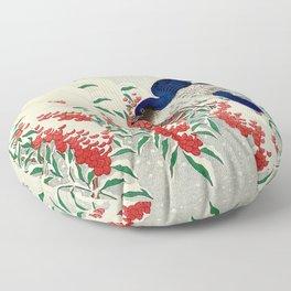 Winterberry Songbirds Floor Pillow