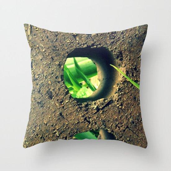 Peering Through Throw Pillow