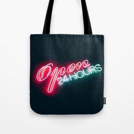 NEON OPEN 24 HOURS Tote Bag