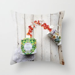 Spring in Cup Throw Pillow