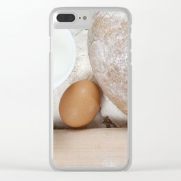 Baked rye bread Clear iPhone Case