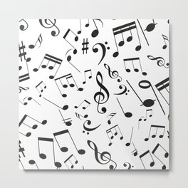 Musical Notes 19 Metal Print