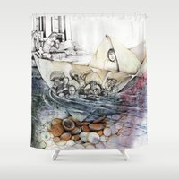 italy Shower Curtains featuring italy dualism by Andreas Derebucha