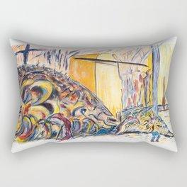 X voYages de Zed (toile 15 - série 1) Rectangular Pillow