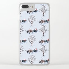 Father Christmas in the Snow Clear iPhone Case