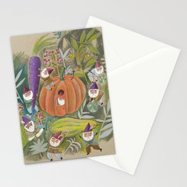Heavy Lifting Garden Gnomes Stationery Cards