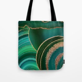 Emerald Marble Glamour Landscape Tote Bag