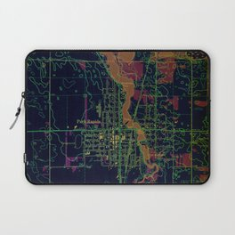 Park Rapids old map year 1969, united states old maps, colorful art Laptop Sleeve