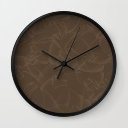 Quincy Tobacco Brown Wall Clock