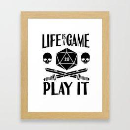 Gamer Cube RPG LARP Tabletop Motivation Gift Framed Art Print