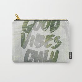 Good Vibes Only Palm Trees Carry-All Pouch