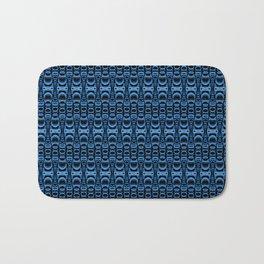 Dividers 07 in Blue over Black Bath Mat