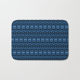 Dividers 07 in Blue over Black Bath Mat