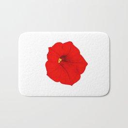 Red petunia Bath Mat