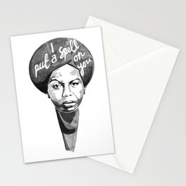Nina Simone - I Put A Spell On You Stationery Cards