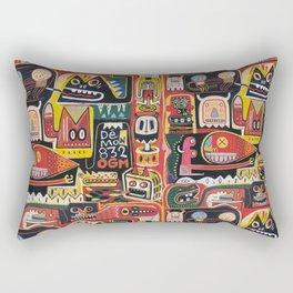 Mutant pop corn Rectangular Pillow
