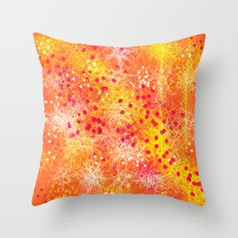 Feather Party Throw Pillow