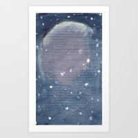 outer space Art Prints featuring outer space by Amanda Powzukiewicz