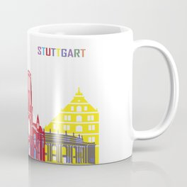 Stuttgart skyline pop Coffee Mug