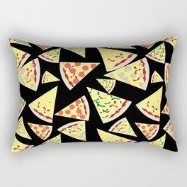 Fun Dynamic Random Pattern Pizza Lover Rectangular Pillow