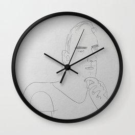 Sisk portrait Wall Clock