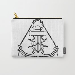 Anchor and Steering Helm [Outline] Carry-All Pouch